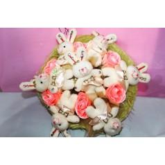 Букет Заяц (мягкие игрушки)