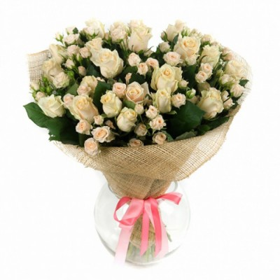 Букет белых роз Грациозная 11 шт