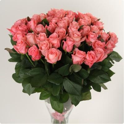 Букет розовых роз Ангажемент (31 шт)