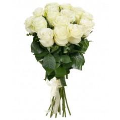 Букет белых роз Мондиаль