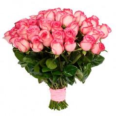 Букет розовых роз Карусель (31 шт)