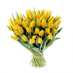 Букет желтых тюльпанов Алиса