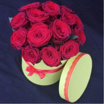 Шляпная классическая (15 роз)