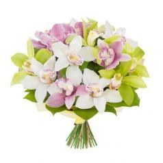 "Букет орхидеи цимбидиум ""Милое дитя"" 17 шт"
