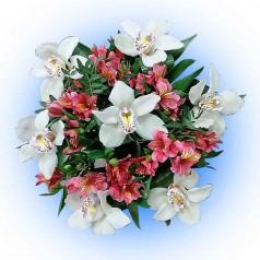 """Букет орхидеи цимбидиум """"Унесенные ветром"""""""