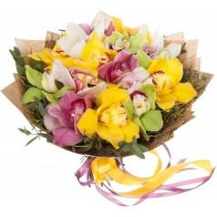 """Букет орхидеи цимбидиум """"Летнее пробуждение"""" 13 шт"""