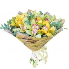 """Букет орхидеи цимбидиум """"Весеннее возрождение"""""""