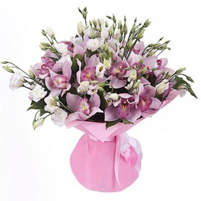 """Букет орхидеи цимбидиум """"Зимний поцелуй"""""""
