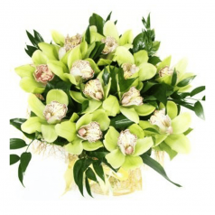 """Букет орхидеи """"Аромат завтрашней надежды"""" 11 шт"""