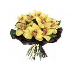 """Букет орхидеи цимбидиум """"Нежное облако"""" 9 шт"""
