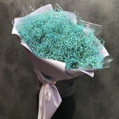 """Букет голубых гипсофил  21 шт """"Расцвет красоты"""""""
