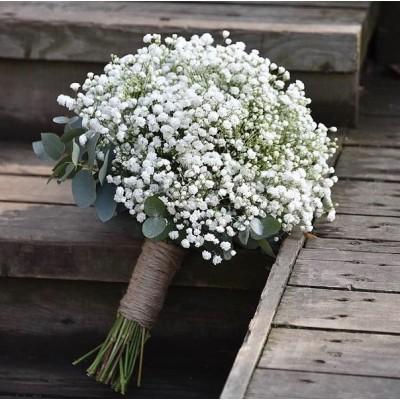 """Букет белых гипсофил """"Невеста"""" 15 шт"""