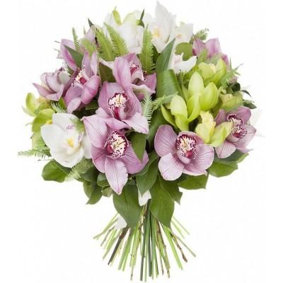 """Букет орхидей цимбидиум """"Английский поцелуй"""""""