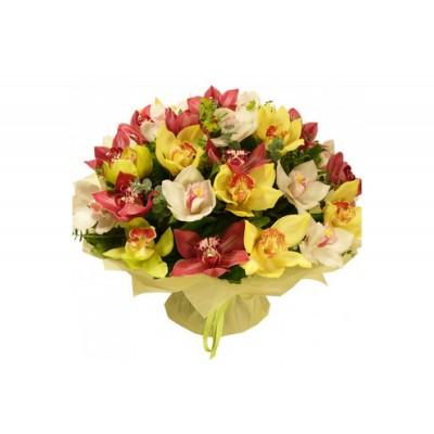 "Букет орхидей цимбидиум ""Весенняя красавица"" 25 шт"