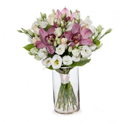 """Букет орхидей цимбидиум """"Весеннее вдохновение"""" 15 цветов"""