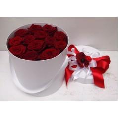 Шляпная белая (13 роз)