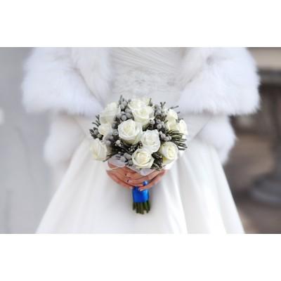 Мордовник (11 роз) - для невесты