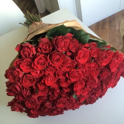 Букет красных роз Нежности (51 шт)