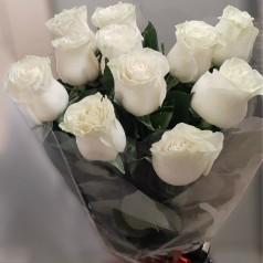 Букет роз Ледяной (11 шт)