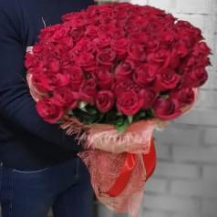 Букет красных роз Голландия 101 шт