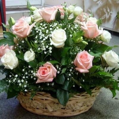 Корзина Ароматная (21 роза)