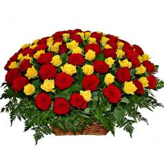 Корзина Привлекательная 101 роза