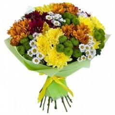 Хризантемы кустовые 21 шт микс