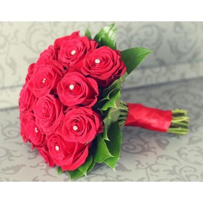 Камелия (15 роз) букет невесты