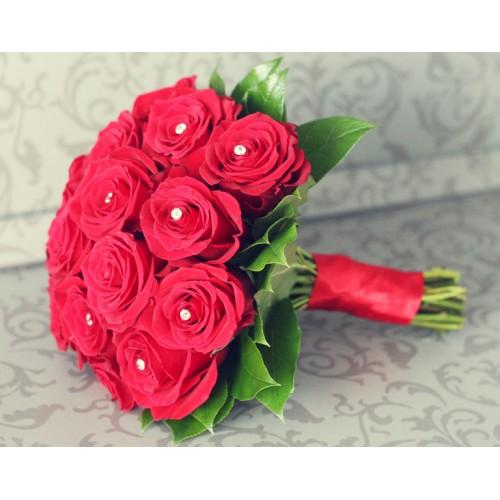 Букет невесты из роз Камелия