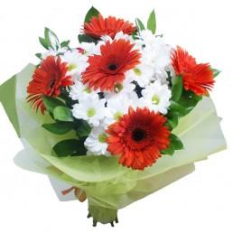 Акция: букет Ромашки из хризантем