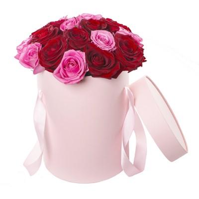 Коробка Цветная (21 роза)