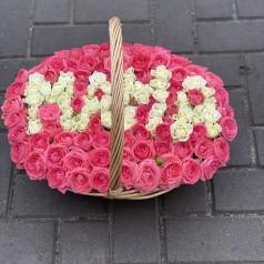 """Букет роз """"Свет утренней зари"""" 101 шт"""
