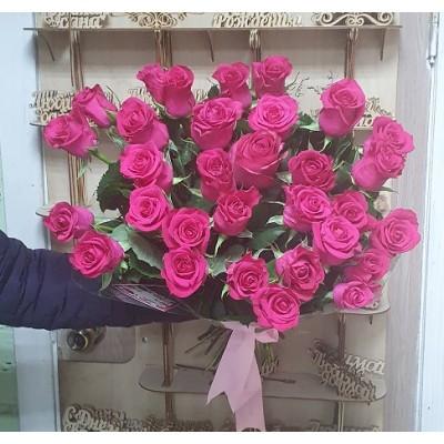 """Букет Розовых роз 35 шт """"Малинка"""""""