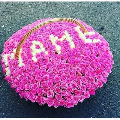 """Букет роз """"Цветочный водопад"""" 365 шт"""