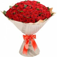 Букет красных роз Престиж (51 шт)