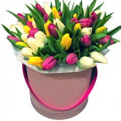 Шляпная Георгина - тюльпаны 35 шт
