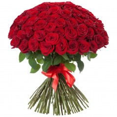 Букет Шапкой (75 роз)