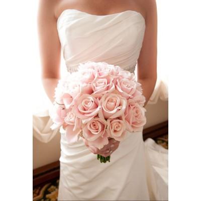"""Букет розовых роз """"Шиповник"""" 21 цветок"""