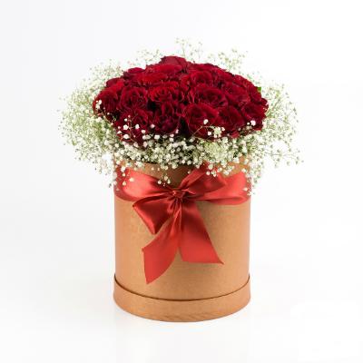 Шляпная золотая (21 роза)