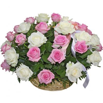 Корзина Гармоничная (25 роз)
