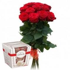 Акция Букет роз и конфеты