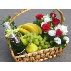 """Корзина фруктов """"Цветочный рай"""""""