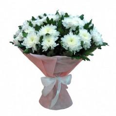 Букет хризантем Зембла белая