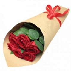 Букет красных роз Кулечек (7 шт)