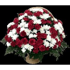 Возложение Корзина гвоздик и хризантем