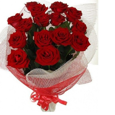 Букет красных роз Акцент (15 шт)