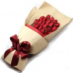 Букет красных роз Люкс (21 шт)
