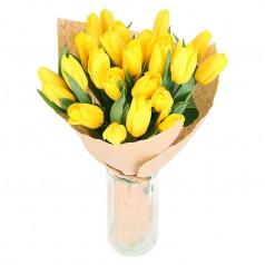 """Принц Чарльз"" Тюльпаны желтые 21 шт"