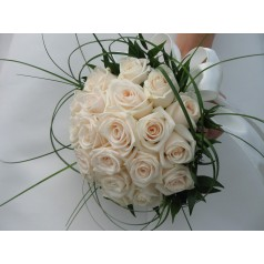 Букет белых роз Али-Баба 19 шт