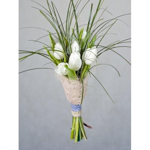 "Букет ""Медуница"" Тюльпаны белые 7 шт"